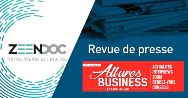 [REVUE DE PRESSE] Allures Business – Le Groupe Idemaps présente Zeendoc